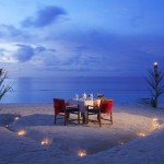 Private beach dinning