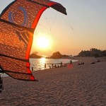 kite surfing and training