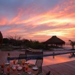 Azura Benguerra - Villa Amizade dining on deck