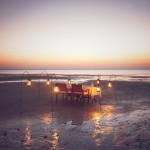 Azura Benguerra dining on beach 2